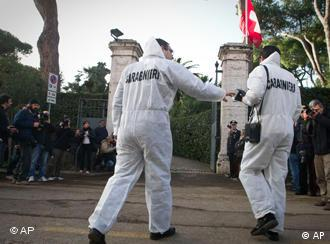 Forensic police at Swiss embassy