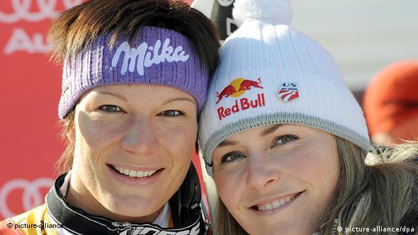 Prijateljice i konkurentice zajedno slave Božić: Maria Riesch (l.) i Lindsey Vonn