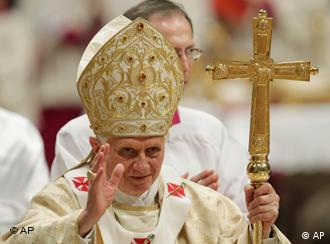 Pope Benedict XVI celebrates Christmas Mass in St. Peter's Basilica