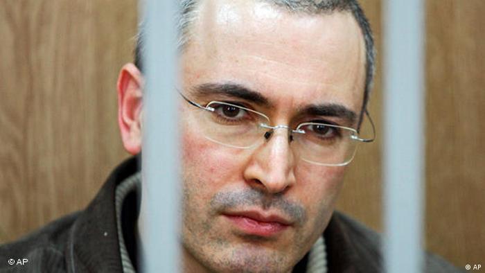 Michail Chodorkowski während seines Gerichtsprozesses (Foto: Theodor Kustov/AP/dapd)