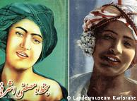 A suposta imagem de Maomé, à esquerda, e a fotografia original, à direita