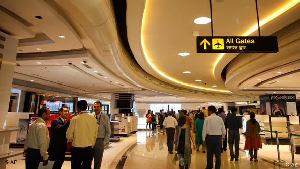 Indira Gandhi International Airport in New Delhi Indien Flash-Galerie