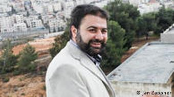 Deputy Head Wasfi Tamimi on his school's roof