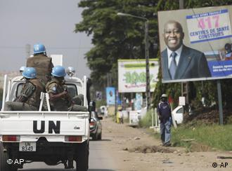 UN Peacekeepers on patrol in Ivory Coast