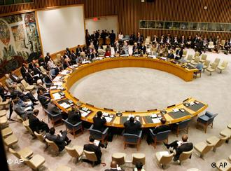 Overhead view of Security Council roundtable
