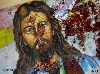 Кръв по лика на Исус