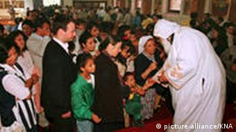 Coptic Christians celebrating mass in Germany