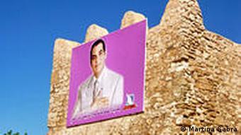 Ben Ali auf einem Plakat (Bild: Martina Sabra)