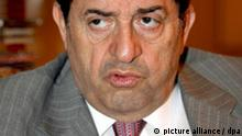 Lebanese Member of Parliament and presidential candidate Boutros Harb speaks during an interview in Beirut, Lebanon on 05 November 2007. Harb has been nominated for the post by the pro-government March 14 bloc. In Lebanon, the president is elected by the parliament. EPA/NABIL MOUNZER +++(c) dpa - Report+++