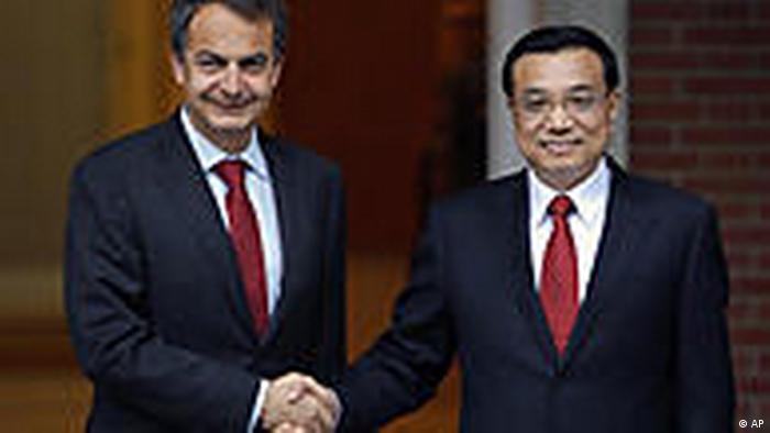 Spanien China Li Keqiang bei Jose Luis Rodriguez Zapatero in Madrid (AP)