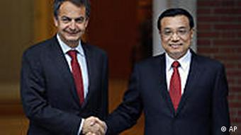 Spanien China Li Keqiang bei Jose Luis Rodriguez Zapatero in Madrid