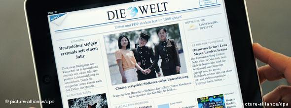NO FLASH Ipad Zeitung App Medien Nachrichten