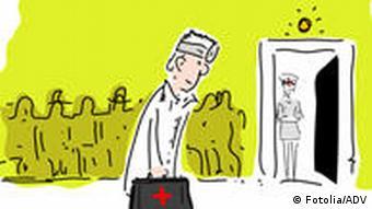 Arzt mit Tasche als Comic (Foto: Fotolia)