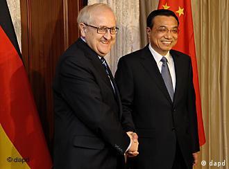 German economics minister Rainer Bruederle and Chinese Vice President Li Keqiang discussed trade ties in Berlin last week