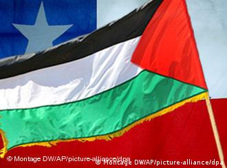 Palestinian and Chilean flag