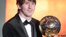 Lionel Messi Fußballer des Jahres 2010