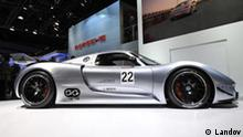 Image #: 12919662 The Porsche 918 RSR is displayed at the 2011 North American International Auto Show at the Cobo Center in Detroit on January 10, 2011. The RSR is a racing version of the company's 918 Spyder hybrid. UPI/Brian Kersey /Landov