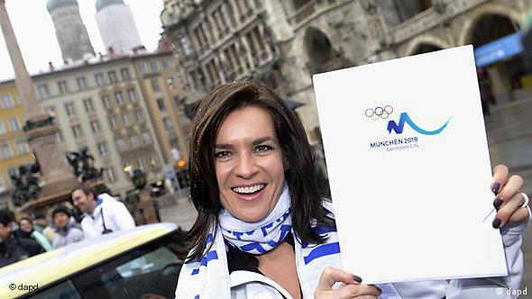 Катарина Витт с официальной заявкой Мюнхена