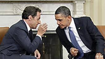 Sarkozy and Barack Obama