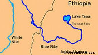 Blue Nile, Map, english July 2004 Original work by Lourdes Cardenal Autor: Nicolás Pérez Lizenz: http://creativecommons.org/licenses/by-sa/3.0/deed.en