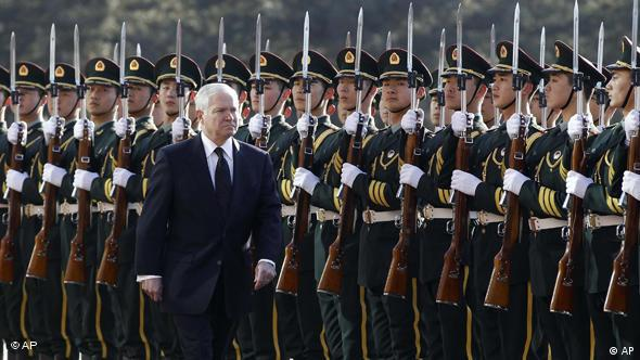 Robert Gates has been received in China with great pomp