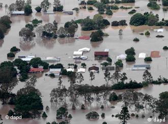 Überschwemmte Stadt (Foto: AP)