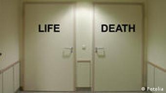 Symbolbild Leben oder Tod