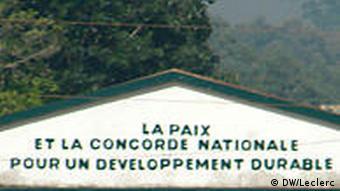 Zentralafrikanische Republik Stadt Triumphbogen in Bangui