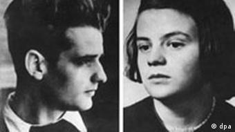 Ганс и Софи Шолль, осужденные Фрейслером