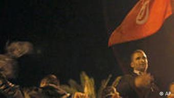 تظاهرات شبانهی مردم در پایتخت تونس