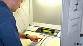 Elektronisches Wahlgerät für die Bundestagswahl