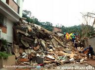 Бразильская деревня, пострадавшая в результате оползня