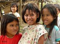 Three Mangyan girls