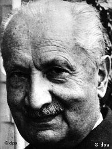 German philosopher Martin Heidegger