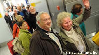 Deutsche Touristen Rückkehr aus Tunesien