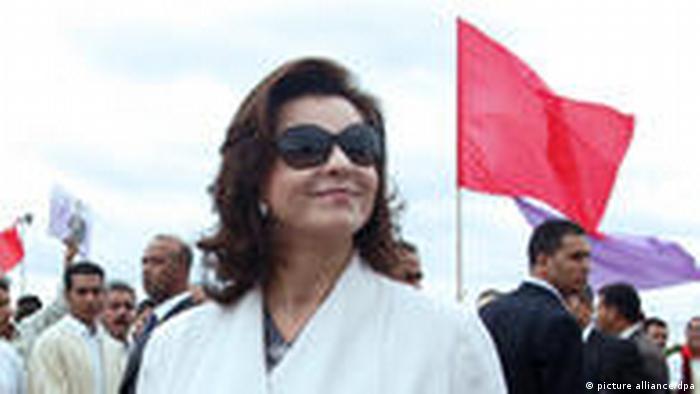Afrika Tunesien Januar 2011 Symbolbild Ben Alis Frau, Leila Ben Ali, floh mit 1,5 Tonnen Gold (picture alliance/dpa)