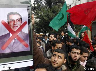 صحنهای از ناآرامیهای تونس