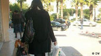 Woman shopping in Tunisia