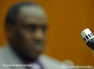 Подсудимый Онесфоре Руабукомбе на процессе во Франкфурте-на-Майне