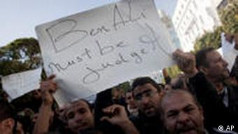 Demonstranten in Tunis (Foto: AP)