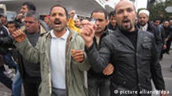 Tunesien Demonstration Tunis Ben Ali 18.01.2011