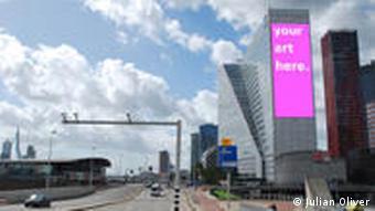 AR ad on a building