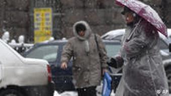 Пешеходы на одной из киевских улиц
