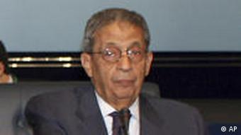 Amr Moussa, head of the Arab League