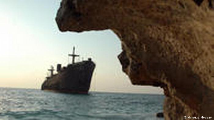 Iran Insel Kish Schiff Felsen (Morteza Mousavi)
