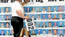 Wahlplakat, noch ein Tag bis zur Bundestagswahl