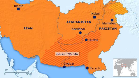Karte Baluchistan englisch Flash-Galerie