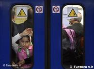 ازدحام در مترو تهران
