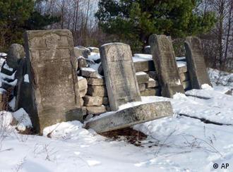 Tomb stones at a mass grave in Rava Ruska, Ukraine.