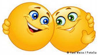 Symbolbild Emoticon Umarmung